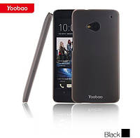 Пластиковый Чехол для телефона Yoobao Crystal Protect case for HTC One, black (PCHTCONE-CBK)