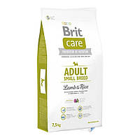 Brit Care Adult Small Breed сухой корм для собак мелких пород, с ягненком 7,5КГ