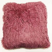 Наволочка декоративная травка 40/40 розовая