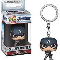 Фигурка брелок Funko Pop Фанко Поп Avengers Endgame Captain America Мстители Финал Капитан SKL38-223063