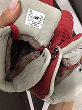Женские кроссовки красные кожа нубук, фото 2
