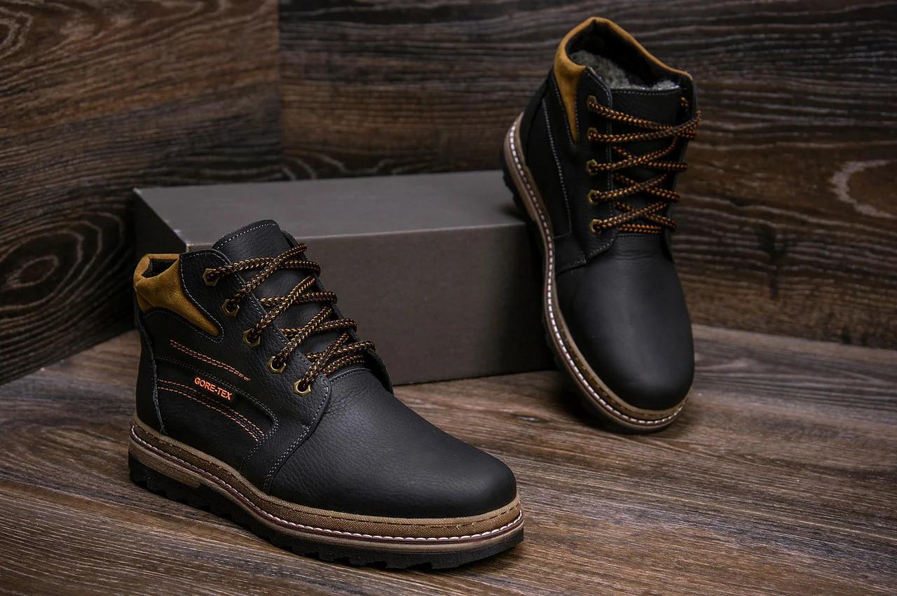 Мужские зимние кожаные ботинки в стиле Walker New Seazone