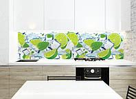 Кухонний фартух Лайм з м'ятою цитруси лід лайми плівка для кухонної поверхні наклейки для кухні декор, фото 1