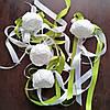 Свадебные украшения на ручки автомобиля (оливковый цвет), 4 шт