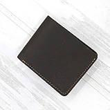 Портмоне vanja коричневый из натуральной кожи crazy horse, фото 3
