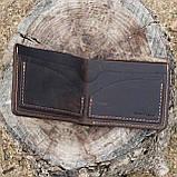 Портмоне vanja коричневый из натуральной кожи crazy horse, фото 7