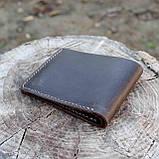 Портмоне vanja коричневый из натуральной кожи crazy horse, фото 9