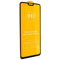Стекло 9D Honor 8x - черная рамка