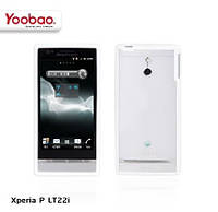 Силиконовый чехол для телефона Yoobao 2 in 1 Protect case for Sony Xperia P LT22i, white (PCESLT22I-WT)