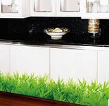 Декоративна наклейка зелена трава (132х26см), фото 2