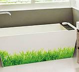 Декоративна наклейка зелена трава (132х26см), фото 4