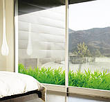 Декоративна наклейка зелена трава (132х26см), фото 5