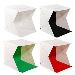 Світловий лайткуб (photobox) з LED підсвічуванням (40x40x40 див.) і 4 фонами