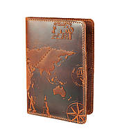"Портмоне HiArt PB-02 Shabby Cognac ""7 wonders of the world"""
