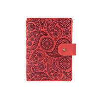 """Кожаное портмоне для паспорта / ID документов HiArt PB-02/1 Shabby Red Berry """"Buta Art"""", фото 1"""