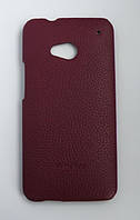 Кожаный чехол-накладка для телефона Melkco Snap leather cover for HTC One, purple (O2O2M7LOLT1PELC)