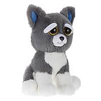 Интерактивная игрушка Feisty Pets Добрые Злые зверюшки Плюшевый Пес Сэмми 20 см, фото 1