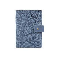 """Шкіряне портмоне для паспорта / ID документів HiArt PB-02/1 Shabby Lagoon """"let's Go Travel"""", фото 1"""