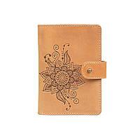 """Шкіряне портмоне для паспорта / ID документів HiArt PB-02/1 Shabby Honey """"Mehendi Classic"""", фото 1"""