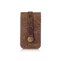 """Ключниця з натуральної матової шкіри рудого кольору, колекція, колекція """"Mehendi Art"""", фото 1"""