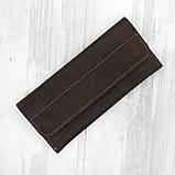 Кошелек magnets коричневый из натуральной кожи crazy horse, фото 2