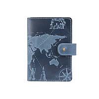 "Кожаное портмоне для паспорта / ID документов HiArt PB-03S/1 Shabby Lagoon ""7 wonders of the world"", фото 1"