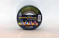 Изолента ПВХ 10м х 15мм х 0,13мм ELCOR желто / зеленый