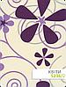 Ткань Квіти фиолетовая