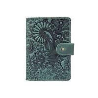 """Шкіряне портмоне для паспорта / ID документів HiArt PB-03S/1 Shabby Alga """"Mehendi Art"""", фото 1"""