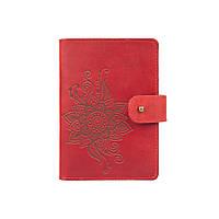 """Кожаное портмоне для паспорта / ID документов HiArt PB-03S/1 Shabby Red Berry """"Mehendi Classic"""", фото 1"""