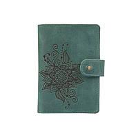 """Шкіряне портмоне для паспорта / ID документів HiArt PB-03S/1 Shabby Alga """"Mehendi Classic"""", фото 1"""