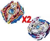 Набор волчков BEYBLADE (Бейблейд) Волчок Sieg Xcalibur VS Lost Longinus 3 сезон с пусковыми устройствами, фото 1