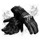 Шкіряні мотоциклетні рукавички з підігрівом WINNA P-1 з LED дисплеєм, водонепроникні, 65°C, 7.4 V / 2200mAh, фото 2