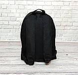 Молодежный городской, спортивный рюкзак, портфель суприм, Supreme. Черный с красным., фото 5