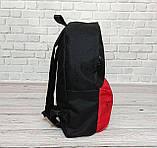 Молодежный городской, спортивный рюкзак, портфель суприм, Supreme. Черный с красным., фото 6