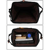 Рюкзак сумка стильний жіночий міський (чорний), фото 9
