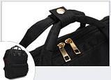 Рюкзак сумка стильний жіночий міський (чорний), фото 7