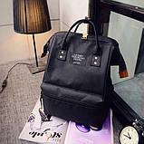 Рюкзак сумка стильний жіночий міський (чорний), фото 2