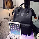 Рюкзак сумка стильний жіночий міський (чорний), фото 6