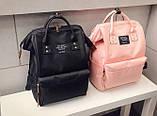 Рюкзак сумка стильний жіночий міський (чорний), фото 10
