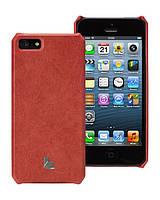 Кожаный чехол-накладка для телефона Jison Vintage leather cover case for iPhone 5/5S, red (JS-IP5-01A30)