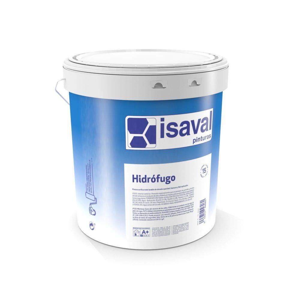 Водоотталкивающая акриловая краска для наружных и внутренних работ Гидрофуго  ISAVAL 15л≈150м²/слой