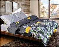 Качественное красивое постельное белье двойка, кульбабки
