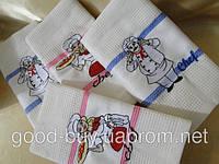 Набор кухонных полотенец с поваром  Nilters 4шт. 100% cotton Турция
