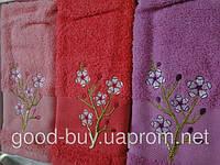 """Комплект махровых полотенец на кухню Merzuka """"Sakura"""" 3шт. 100% хлопок Турция"""