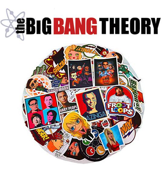 Виниловые  стикеры  Теория Большого взрыва / The Big Bang Theory 25шт