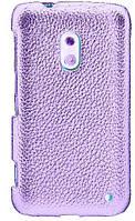 Кожаный чехол-накладка для телефона Melkco Snap leather cover for Nokia Lumia 620, purple (NKLU62LOLT1PELC)