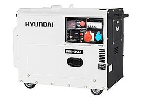 Дизельный генератор 5 кВт Hyundai Diesel DHY 6000SE-3 (Бесплатная доставка по Украине)