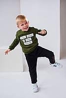 Детские спортивные штаны Ливен 4499 на мальчика 4-7 лет 110 черный