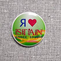 Значок c логотипом танцевальной студии STAN